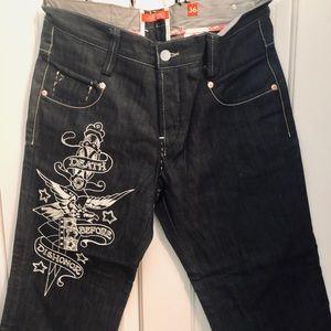 Ed Hardy men's jeans